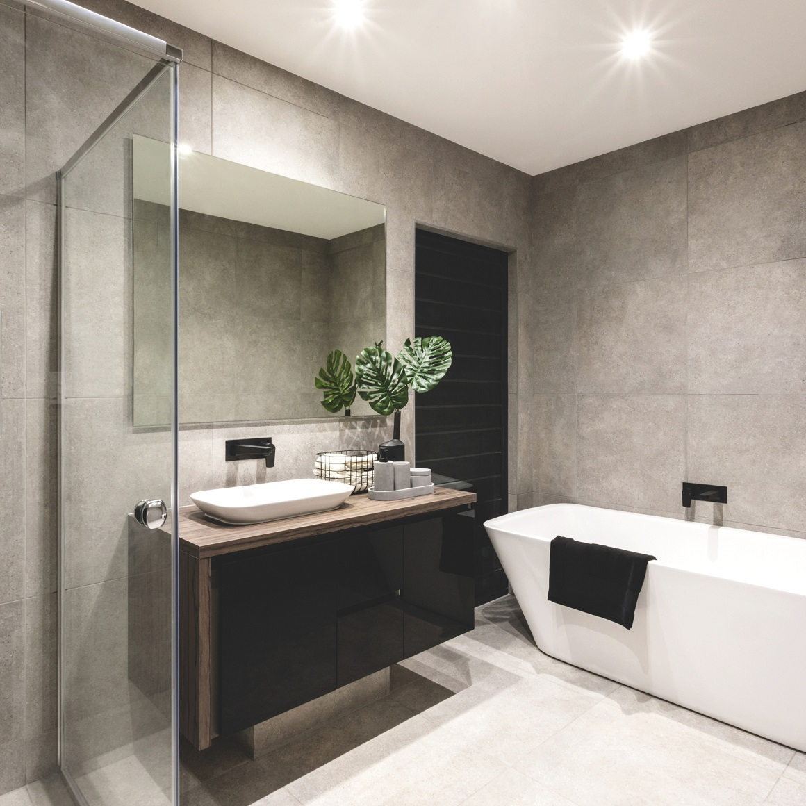 Infrarotheizung-Spiegel-VASNER-Zipris-S-SR-Rahmenlos-Infrarot-Badezimmer