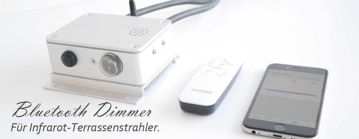 Bluetooth Dimmer zur Fernbedienung und stufenlosen Temperaturregelung als praktisches Infrarotstrahler Zubehör