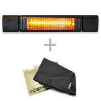 VASNER Appino BEATZZ Schwarz Bluetooth Infrarot-Heizstrahler, LED, Musik-Lautsprecher mit AirCape