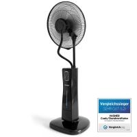 VASNER Standventilator Cooly schwarz mit Ultraschall Wasser-Sprühnebel & Fernbedienung