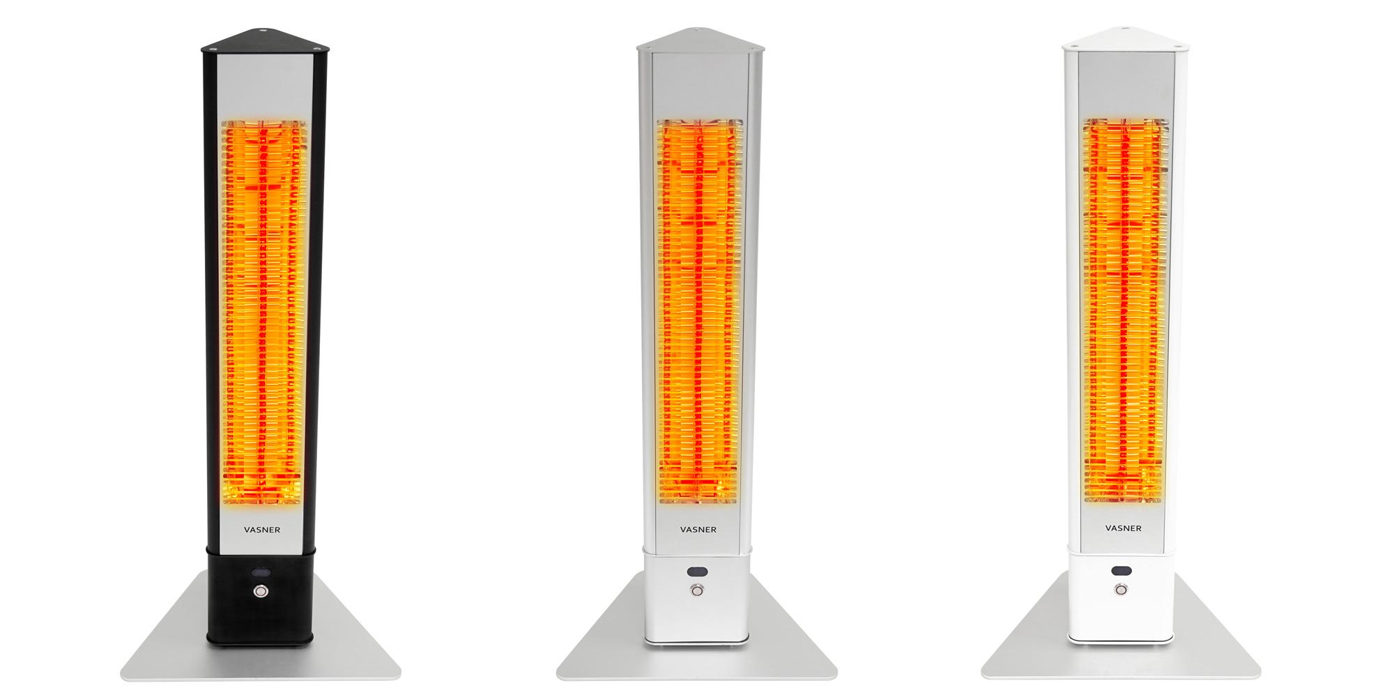 Standheizstrahler-Infrarot-elektrisch-Terrasse-VASNER-HeatTower-schwarz-weiss-silber