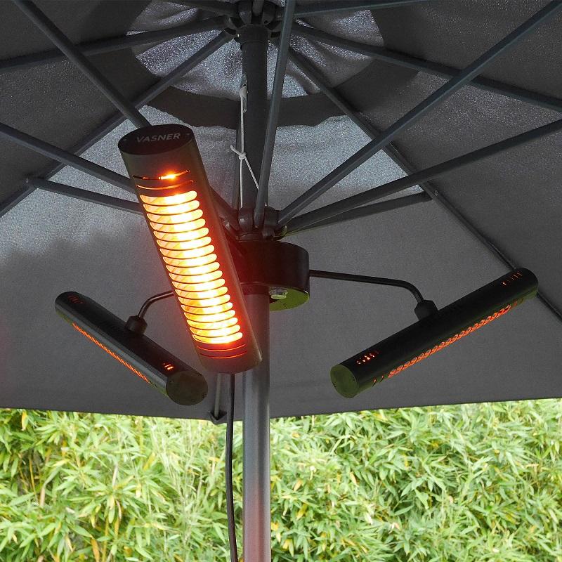 Terrassenstrahler-Heizstrahler-Sonnenschirm-VASNER-Umbrella-X30-schwarz-Schirm-Terrasse