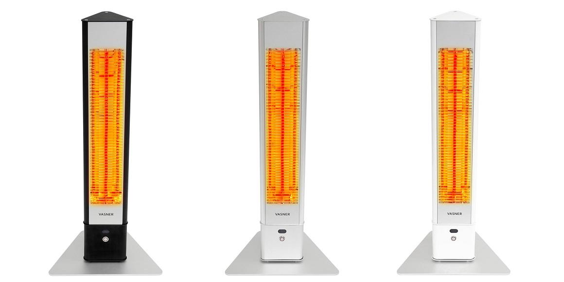 Terrassenstrahler-Standheizstrahler-Infrarot-elektrisch-Terrasse-VASNER-HeatTower-schwarz-weiss-silber