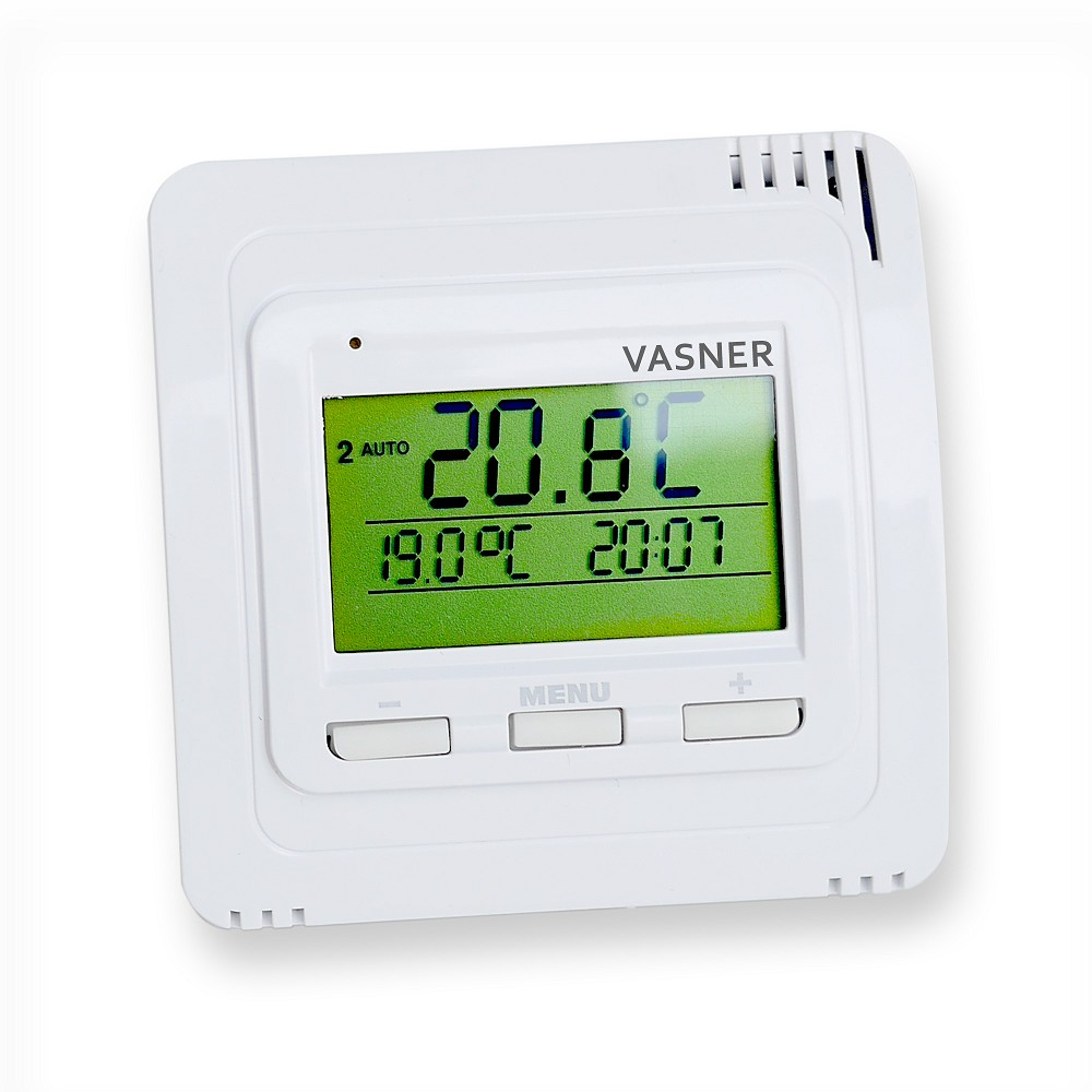 vasner funk thermostat vftb sender mit display f r infrarotheizung und elektroheizung. Black Bedroom Furniture Sets. Home Design Ideas