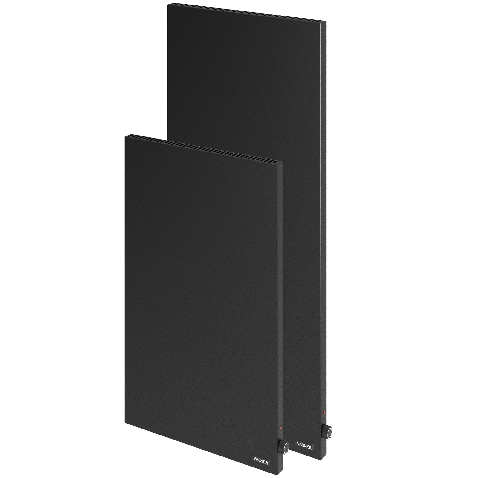 VASNER Konvi VE Schwarz vertikale Hybrid Infrarotheizung mit Thermostat
