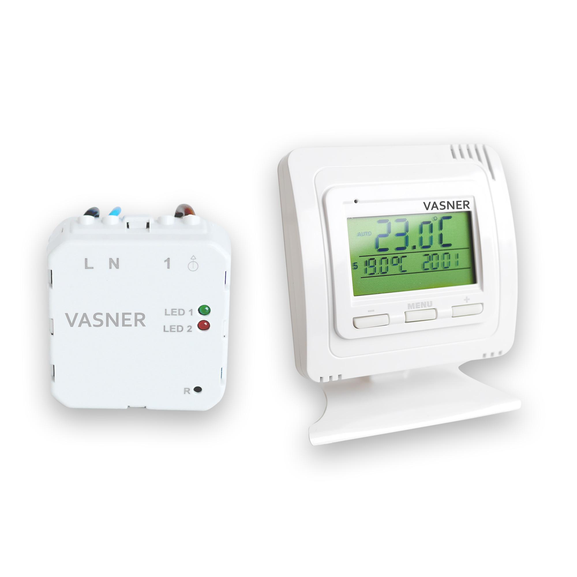 Das VASNER Unterputz Thermostat Set für Infrarotheizungen