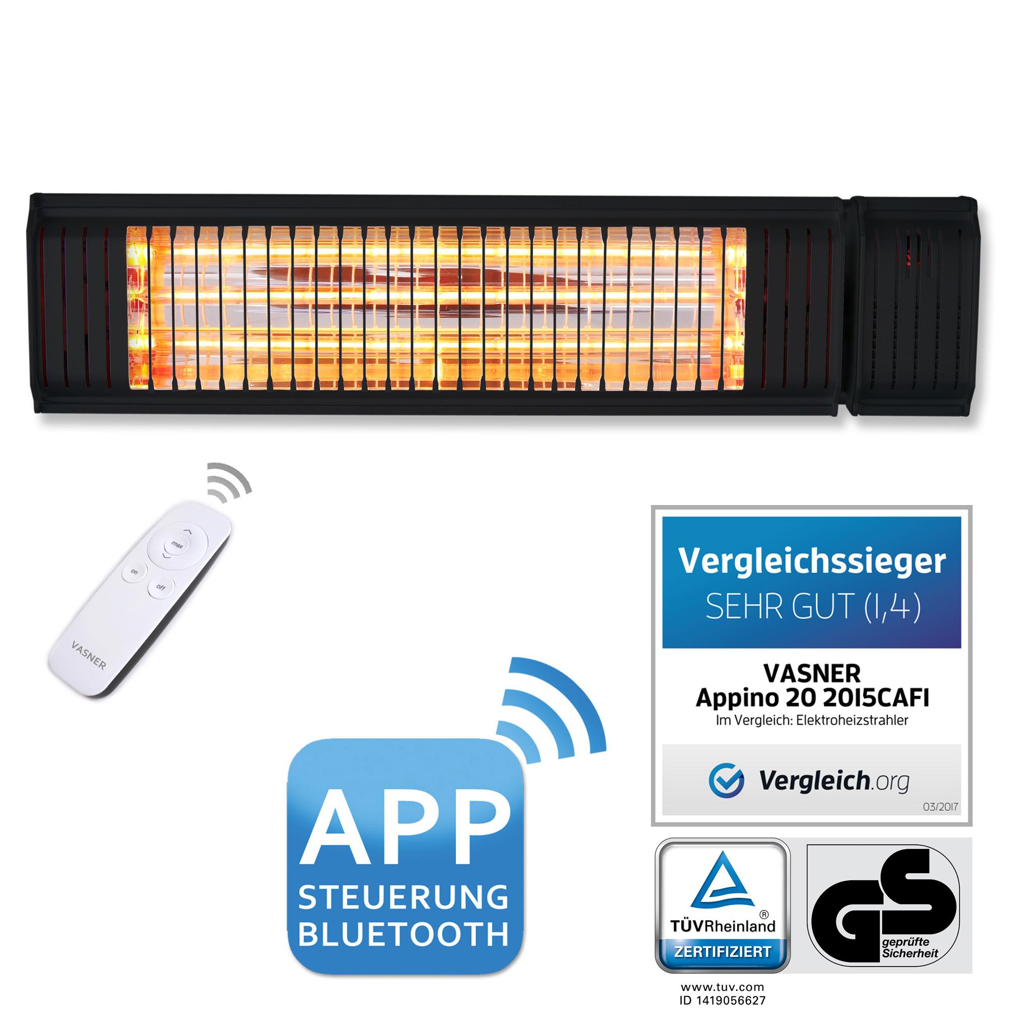 Bluetooth Balkon Wandheizstrahler Appino 20 von VASNER
