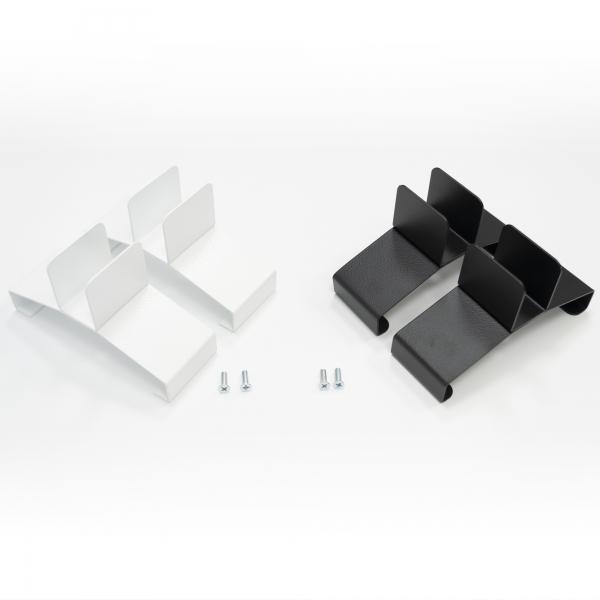 Konvi Standfüße in Weiß und Schwarz für mobiles Standgerät